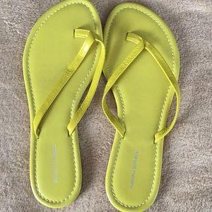 NWOT Banana Republic bright yellow leather sandals